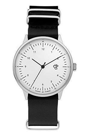 Chpo Unisex dorosły zegarek kwarcowy, analogowy klasyczny wyświetlacz i skórzany pasek 14224AA, Harold