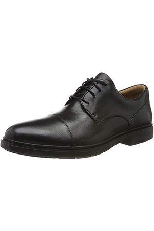 Clarks Un Tailor Cap Derbys męska czapka z daszkiem, - Schwarz Black Leather Black Leather - 44.5 EU