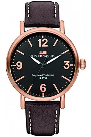 River Woods Delaware męski zegarek na rękę Taśma Braun/Roségold/Schwarz