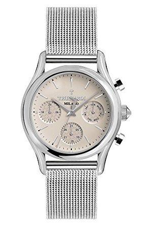 Trussardi Męski multicyferblat kwarcowy zegarek z bransoletką ze stali szlachetnej R2453127001