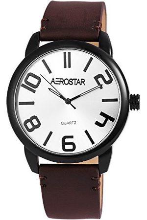 Aerostar Męski analogowy zegarek kwarcowy z imitacji skóry 21107250004