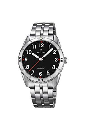 Festina Unisex analogowy zegarek kwarcowy z paskiem ze stali nierdzewnej F16907/3