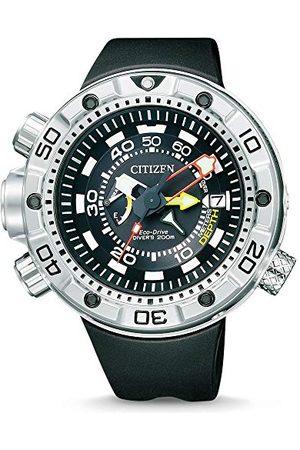 Citizen Męski zegarek na rękę XL Promaster Marine - Eco-Drive Aqualand analogowy kwarcowy kauczuk BN2021-03E