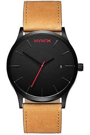 MVMT Męski analogowy zegarek kwarcowy ze skórzanym paskiem ze skóry cielęcej D-L213.5L.351