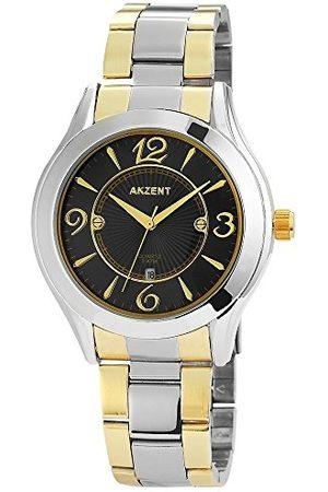 Akzent Unisex Dorośli analogowy zegarek kwarcowy z bransoletką ze stali szlachetnej SS881150004