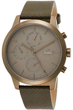 Lacoste Męski wielofunkcyjny zegarek kwarcowy ze skórzanym paskiem 2010999