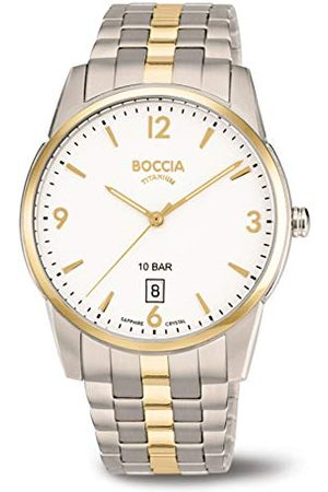 Boccia Męski analogowy zegarek kwarcowy z tytanowym paskiem 3632-02