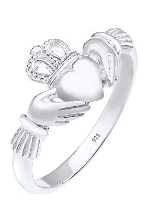 Elli 0608862715 pierścionek damski serce srebro wysokiej próby 925, szlif serca e srebro, 52 (16,6), colore: srebro, cod. 0608862715_52