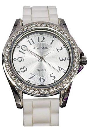 Alain Miller Męski analogowy zegarek kwarcowy z silikonową bransoletką RP60000002