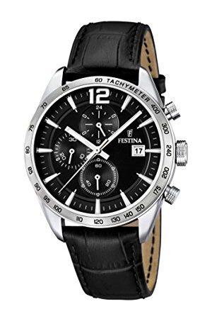 Festina Męski chronograf kwarcowy zegarek ze skórzanym paskiem F16760/4