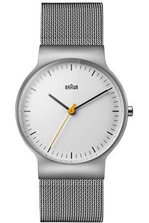 von Braun Męski analogowy klasyczny zegarek kwarcowy z paskiem ze stali nierdzewnej BN0211WHSLMHG