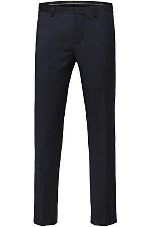 Selected Męskie spodnie Slhslim-mylobill granatowe spodnie B Noos garnitur