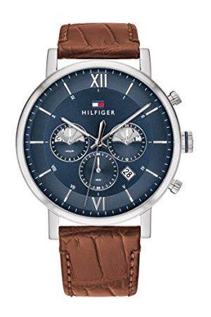 Tommy Hilfiger Męski analogowy kwarcowy zegarek na rękę ze skórzanym paskiem 1710393