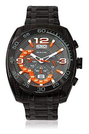 Munich Unisex dla dorosłych analogowy kwarcowy zegarek z bransoletką ze stali szlachetnej MU+134.1B