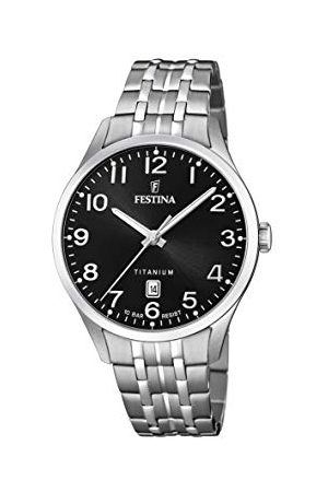 Festina Męski analogowy zegarek kwarcowy z bransoletką tytanową F20466/3