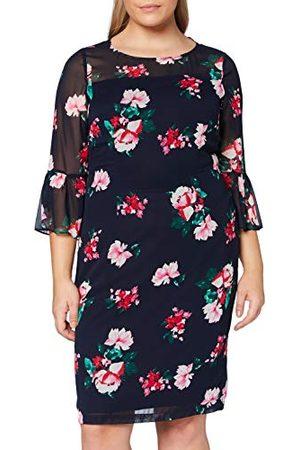 Gina Bacconi Damska sukienka koktajlowa z szyfonu w kwiaty, Fayla