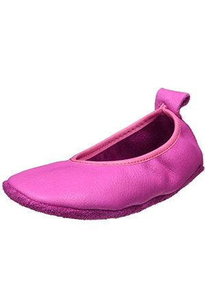 POLOLO Unisex Baby Ballerina różowe kapcie domowe, 20 EU