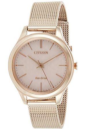 Citizen Damski analogowy kwarcowy zegarek z bransoletką ze stali szlachetnej EM0503-83X