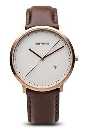 Bering Time 11139-564 męski zegarek na rękę z kolekcji Classic ze skórzanym paskiem i odpornym na zarysowania szkiełkiem szafirowym. Zaprojektowany w Danii