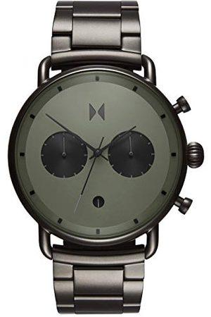 MVMT Męski analogowy zegarek kwarcowy z bransoletką ze stali szlachetnej D-BT01-OLGU