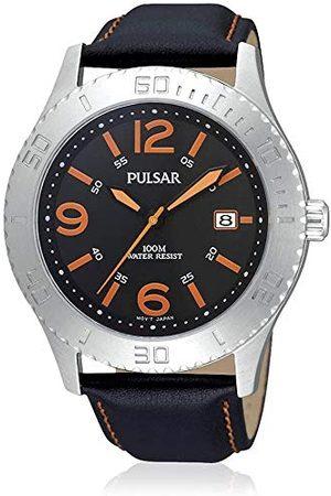 Pulsar Męski zegarek na rękę XL Sport analogowy kwarcowy skóra PS9005X1