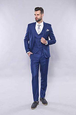 Wessi Męski smukły krój, nierzucający garnitur, z blezerem w kratkę - zestaw dress Set