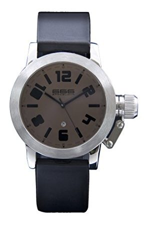 666Barcelona Męski analogowy zegarek kwarcowy z gumową bransoletką 66-211
