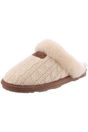 Bearpaw Effie klapki z otwartymi plecami, białe (len 379), 3 UK