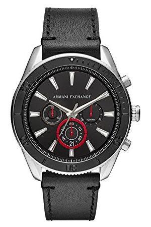 Emporio Armani Armani Exchange męski analogowy zegarek kwarcowy ze skórzanym paskiem AX1817