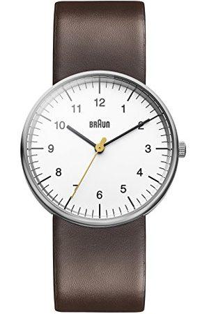 von Braun Męski kwarcowy trzy ręce mechanizm zegarek z wyświetlaczem analogowym i skórzanym paskiem pasek