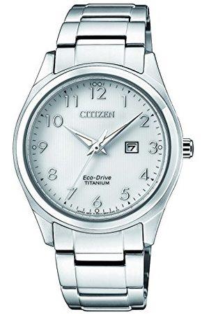 Citizen Damski data klasyczny zegarek solarny z tytanową bransoletką EW2470-87A