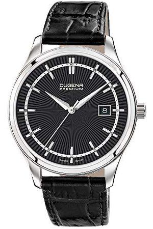 DUGENA Męski zegarek na rękę Sinor skóra 41 mm czarny/srebrny