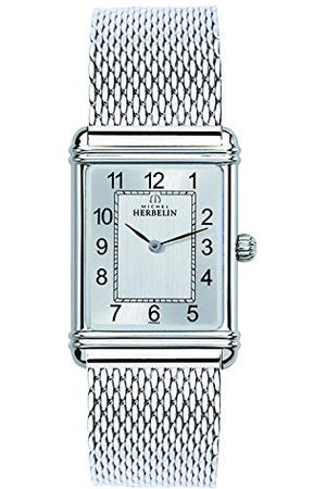 Michel Herbelin Męski analogowy zegarek kwarcowy z bransoletką ze stali szlachetnej 17468/22BM