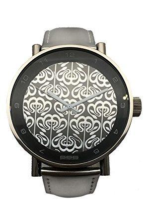 666Barcelona Uniseks dla dorosłych analogowy zegarek kwarcowy ze skórzanym paskiem 66-200