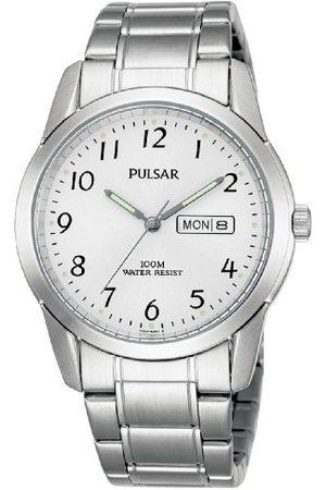 Pulsar Kwarcowy zegarek męski stal szlachetna z metalowym paskiem PJ6025X1