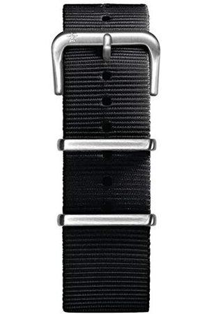 Oxygen Unisex czarna nylonowa klamra przypinka 22 cm