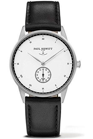 Paul Hewitt Unisex Dorośli Analogowy zegarek kwarcowy ze skórzanym paskiem PH-M1-S-W-2M