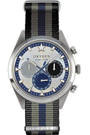 Oxygen Unisex Zegarek na rękę Pacific 40 analogowy kwarcowy nylon EX-SDT-PAC-40-NN-BLGRNA