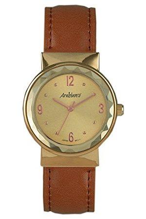 Arabians Męski analogowy zegarek kwarcowy ze skórzanym paskiem DBA2213WM