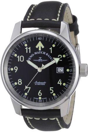 Zeno Męski automatyczny zegarek klasyczny pilot 6554RA-a1 ze skórzanym paskiem