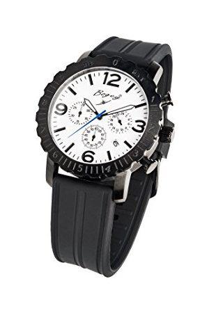 BOGEY Męski chronograf kwarcowy zegarek z gumową bransoletką BSFS006WBBK