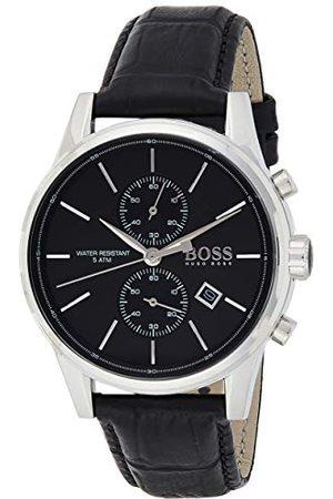 HUGO BOSS Męski zegarek na rękę Jet Chronograf Kwarc Skóra 1513279