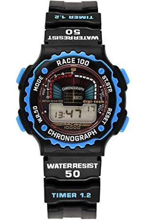 Digi-Tech Digital Chrono Race męski zegarek z bransoletką kauczukową Pasek