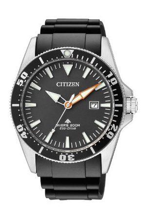 Citizen Męski analogowy zegarek kwarcowy z kauczukową bransoletką BN0100-42E