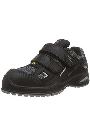 Sanita Unisex Millstone-esd-s3 Velcro Leather Shoe buty ochronne, - Black 2-48 EU