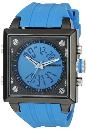 CEPHEUS Męski zegarek kwarcowy z niebieską tarczą analogową - cyfrowy wyświetlacz i silikonowy pasek CP900-633A