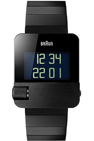 von Braun Męski prestige zegarek z cyfrowym wyświetlaczem czarna obudowa ze stali nierdzewnej i paskiem ze stali nierdzewnej BN0106BKBTG