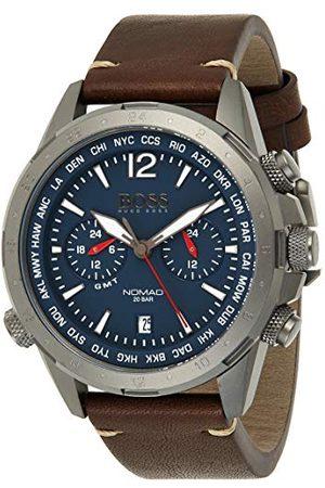 HUGO BOSS Multi Dial kwarcowy zegarek męski ze skórzanym paskiem 1513773
