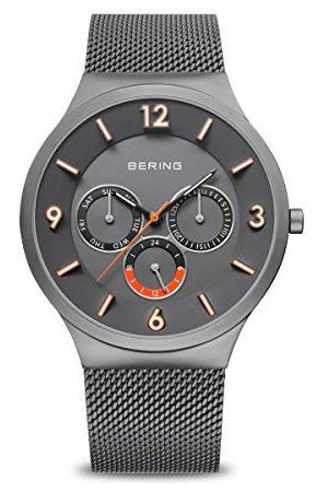 Bering Męski analogowy zegarek kwarcowy z bransoletką ze stali szlachetnej 33441-377