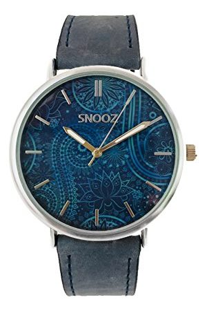 Snooz Męski analogowy zegarek kwarcowy ze skórzanym paskiem Saa1041-71